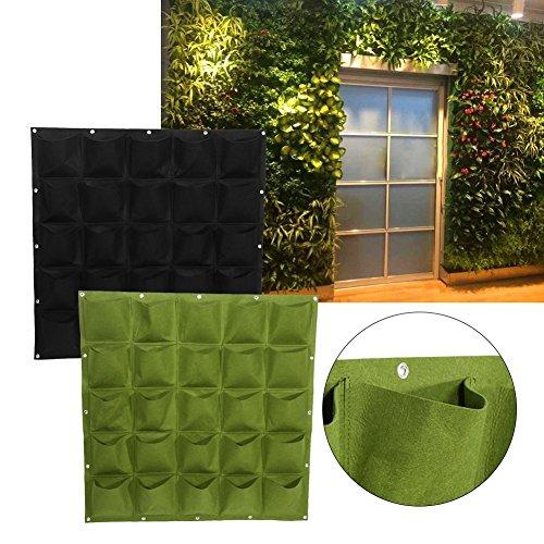 25 Tasche Di Impianto Alla Parete Sospensorio Giardinaggio Planter All'aperto Coperta Verticale Greening Grow Borse ( Colore : Verde )