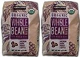 Kirkland Signature Organic Whole Bean Blend 100 % Arabica Beans Net Wt (2 Lb),, 32 Oz Pack of 2
