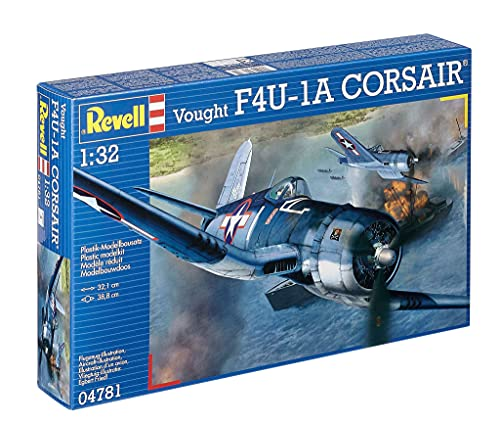 Revell- Vought F4U-1A Corsair Kit Modello, 32,1 cm di lunghezza, 04781