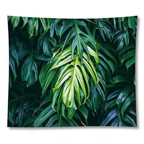 PPOU 3D Planta Verde impresión Yoga Mat Pared Arte Tapiz decoración del hogar sofá Manta Tapiz de Tela de Fondo A2 150x200cm