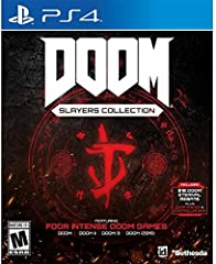 The DOOM Slayers Collection takes players through more than two decades of demon slaying Wield an arsenal of powerful weapons as you battle demon hordes on Mars, on Earth, and across Hell in four critically acclaimed games: DOOM, DOOM II, DOOM 3, and...