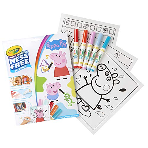 Crayola 75-7000 Color Wonder Mess Free Drawing, Peppa Pig