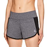 Reebok Women's Athletic Workout Shorts - Gym Training & Running Short - 3 Inch Inseam - Mara Charcoal Heather, X-Large