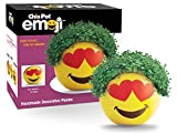Chia Pet Emoji-Heart Eyes Decorative Pottery Planter, Easy to Do and Fun to Grow, Novelty Gift, Perfect for Any Occasion, Yellow