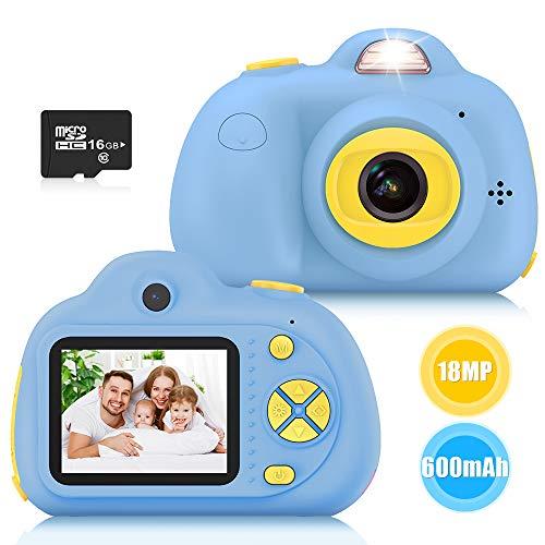 Kimy Kinderkamera 3 4 5 6 7 8 Jahre, Spielzeug Jungen 3-10 Jahre Kinder Fotoapparat Geschenke Jungen 3-10 Jahre Jungen Spielzeug Kamera für Kinder Geburtstagsgeschenk für Jungen 3-10 Jahre