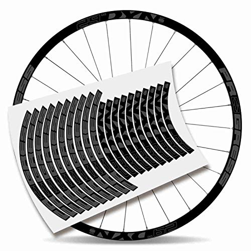 Kit Pegatinas Bicicleta Stickers LLANTA Rim Progress DYN 29' MTB BTT B (Gris Oscuro)