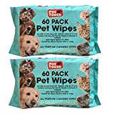 Pet Wipes All Purpose Pet Wipes for Dogs & Cats Alcohol Free Cleaning Wipes For Dogs & Cats (120 Wipes 2 Packs)