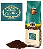 Mystic Monk Coffee: Midnight Vigils Blend | Ground Dark Roast Coffee (Ground Coffee 100% Arabica) - 12oz
