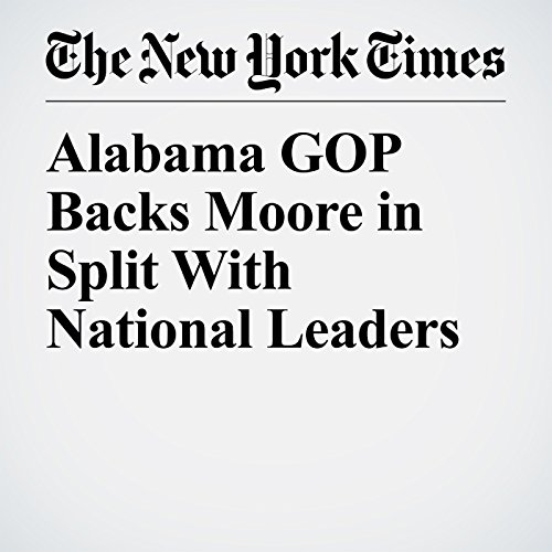 Alabama GOP Backs Moore in Split With National Leaders copertina