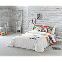 La Volátil Colores Funda nórdica, algodón, Multicolor, Cama 135 cm, 1600