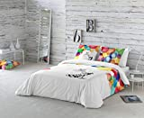 La Volátil Colores Funda nórdica, algodón, Multicolor, Cama 105 cm, 1400