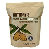 Anthony's Blanched Extra-Fine Almond Flour, Batch Tested Gluten Free, Non-GMO, 908g