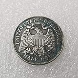 MOMOKY Copy 1877 USA 1/2 Dollar Antique Coin-Liberty&Eagle 50 Cents Collection Commemorative Coin America Morgan Silver Dollar Replica Discovery Collection