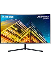 Samsung U32R592 - Monitor Curvo sin marcos de 32'' 4K (3840x2160, LED, UHD, 60Hz, 4ms, sin HDR10, 1500R, 2500:1, ajuste de inclinación), Gris Oscuro