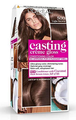 L'Oréal Paris Casting Crème Gloss Coloration Ton sur Ton pour Cheveux - Sans Ammoniaque - Châtain Clair (500) - Lot de 2
