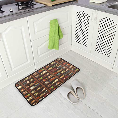 Old Library Bookshelf Best Oversized Chef Antifatigue Kitchen Mats Floor Mat Standing Mat Waterproof Nonslip Cushioned Rugs for Office Computer Desk 39 x 20 Inches