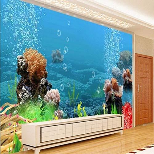 Wuyyii Grote Gepersonaliseerde Desktop Achtergronden Aquarium Tropische Vis 3D Stereo Wereld Onderwater Woonkamer Slaapkamer Tv Achtergrond 150x120cm