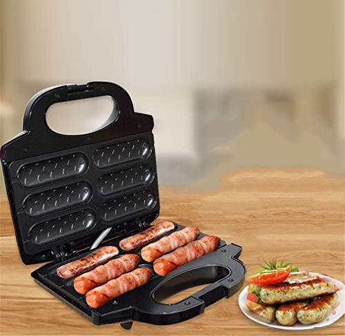 LXTIN Waffeleisen, Hot Dog Maschinen, Grillwurst Antihaftbeschichtung Edelstahl 850W Elektrogrill