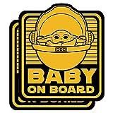 Saturdays Co. 2パック キュートなグリーンベビーエイリアン-4×5 ビニールデカールステッカー - 赤ちゃん乗車、車、トラック、車、窓、バンパー、ノートパソコン、MacBook、Hydroflask、Yeti