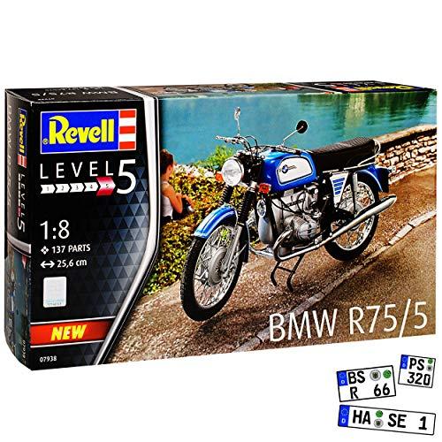B-M-W R75/5 1941-1944 07938 Bausatz Kit 1/8 Revell Modell Motorrad mit oder ohne individiuellem Wunschkennzeichen