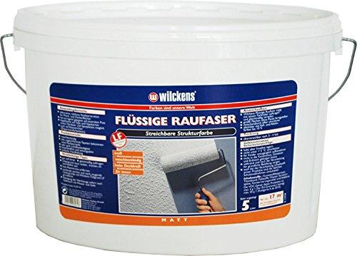 flüssige Raufaser weiss inkl. 4x 5m Abdeckfolie (Flüssige Raufaser 5 Liter)
