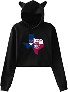 Texas Don't Mess with Us Women's Cat Ear Sweater for Girls