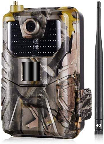 SYWJ HD Telescopio Digital Telescopio 4G Cellular Trail Cameras 20MP 1080 HP Cámara inalámbrica para monitoreo de Vida Silvestre con Rango de detección de 120 ° Activado por Movimiento Impermeabl