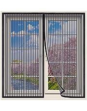 Magnetische Vliegengordijn,170x230cm klamboe Hordeur,Raamhor met magneet,gaasvliegengordijn klamboe voor raam en hordeur, automatische sluiting