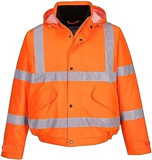 Portwest S463YERM Blouson aviateur classique haute visibilité Couleur Orange Taille L