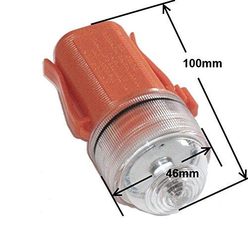 FP INOX Lámpara–Flash electrónico para Cinturón, Chaleco Salvavidas, homologada Med