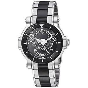 Harley-Davidson Men's Bulova Winged Skull Wrist Watch 78A109