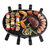 NHJUIJ - Griglia elettrica da tavolo per raclette da 1500 Watt, Plug & Share Raclette con piastra antiaderente, per fino a 8 persone, facile da pulire, 1500 W
