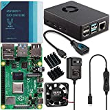 Vilros Raspberry Pi 4 Basic Starter Kit with Fan-Cooled Heavy-Duty Aluminum Alloy Case (2GB, Black)