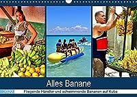 Alles Banane - Fliegende Haendler und schwimmende Bananen auf Kuba (Wandkalender 2022 DIN A3 quer): Bananen im kubanischen Alltag (Monatskalender, 14 Seiten )