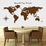 zgldx73 Mapa del Mundo decoración del hogar Pegatina de Pared calcomanía Sala de Estar Mural móvil Papel Tapiz brújula Pegatina de Pared 50x50cm