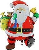 Folienballon Weihnachtsmann mit Sack & Glocke Folienballons Luftballons