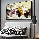 YuanMinglu Flor Abstracta Arte de la Pared Lienzo decoración del hogar Arte Pop Lienzo Flor Sala de Estar Cartel Moderno Pintura sin Marco 30x60 cm