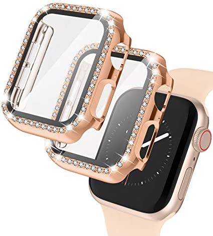 2 Pack Apple Watch Case with Tempered Glass Screen Protector for Apple Watch 40mm Bling Diamond product image