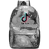 352 Tik-Tok Unisex Rucksack Cool Laptop Tasche Wasserdicht Reise Rucksäcke Schultaschen für Männer Frauen, grau, Einheitsgröße