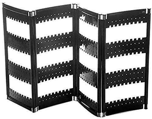 KEEBON 折りたたみ式ネックレススタンドプラスチックジュエリーディスプレイスタンドスクリーンイヤリングラック収納ラック実用的なシェルフブラック