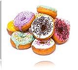 Donut Kuchen Liebesperlen Format: 80x60 cm auf Leinwand,