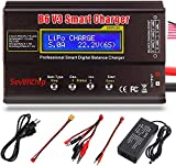 ICQUANZX B6 V3 Lipo Charger Balance Charger Discharger for LiPo/Li-ion/Li-Fe/LiHV Battery (1-6S),NiMH/NiCd (1-15S),PB (2-24V),LCD Display with Power Supply