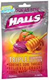 Halls Mentho-Lyptus Drops Sugar Free Honey-Berry 25 Each (Pack of 12)