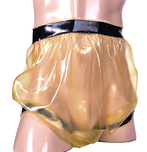 Gummi Windelhose gegen Inkontinenz für Erwachsene (Semi-transparent, M)