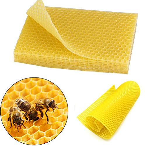 10 hojas de base de colmena de apicultura para hacer velas, manualidades, modelado, cera, botellas de sellado
