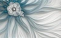 壁の壁画 壁紙 ウォールカバー 布模様の花 大きな花 壁画 壁紙 ベッドルーム リビングルーム ソファ テレビ 背景 壁 壁面装飾のための,400x280cm