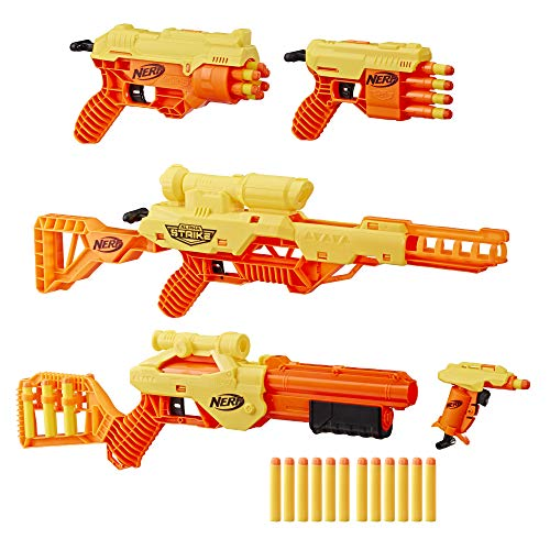 Nerf Alpha Strike 35-Piece Ultimate Mission Pack - Includes 5 Blasters and 30 Official Elite Darts (Multicolour)