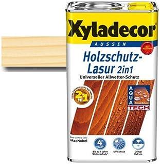 Xyladecor Holzschutz-Lasur 2 in 1 Farblos 2,5 l - Dünnschicht Lasur - schützt - imprägniert & farbbeständig