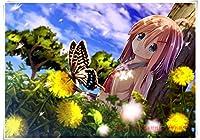Mopoq 木製パズル千枚の大人の解凍教育玩具女の子のギフトのアニメの女の子のヒマワリの花の海(組み立てサイズ75×50センチ) (Color : H)