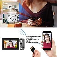 XYUANG 7in 2V2 Wired Wifi Video Intercom Doorbell System Remote APP Control Waterproof IR 1080P 100-240V Door Phone door bell